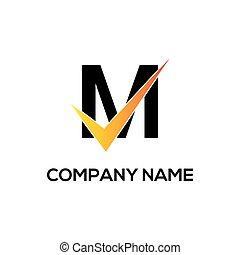 m initial logo company