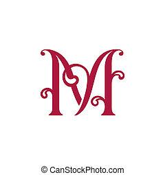 m, letra, sinal
