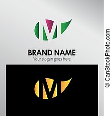 M letter Eco logo