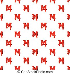 M letter isolated on white background
