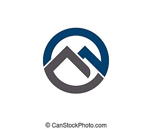 M Letter Logo Template Vector Icon