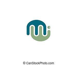 M letter logo vector icon