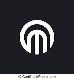 M letter logo vector icon illustration
