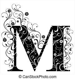 m, lettera, capitale