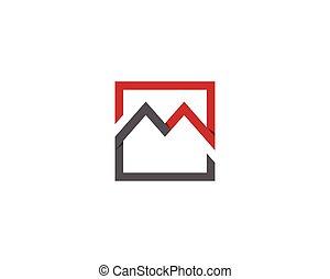 M logo and vector illustration - M logo vector illustration