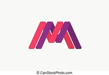 M logo design. Creative logo design. Line logo