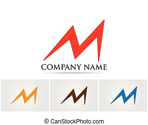 M logo vector icons such logos template