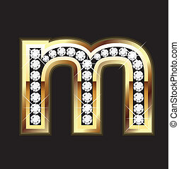 m lowercase bling