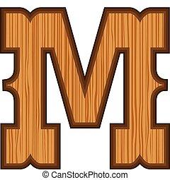 m, occidentale, lettera