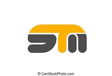 m, sm, s, combinaison, jaune, logo, alphabet, gris, lettre,...