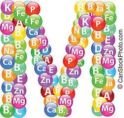 m, vitamina, lettera