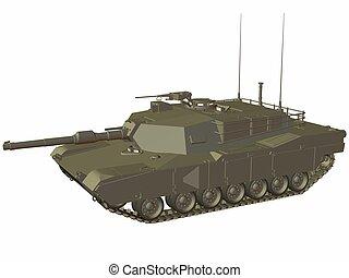 M1 Abrams - 3D Render