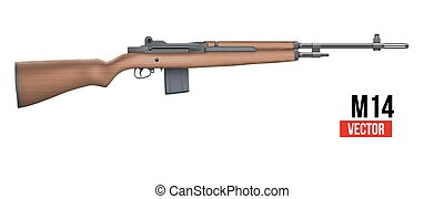 M14 rifle Vector - M14 rifle officially the United States...