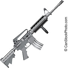 M4 Carbine - M4 carbine is armed with the U.S. Army. Vector...