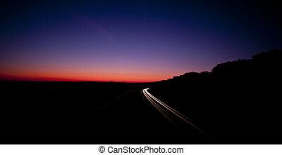 M4 Motorway to London - Motorway Light trails , M4 to London...