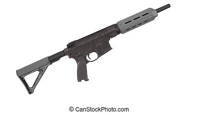 M4 rifle isolated on white