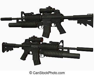 M4 Weapon - 3D Render