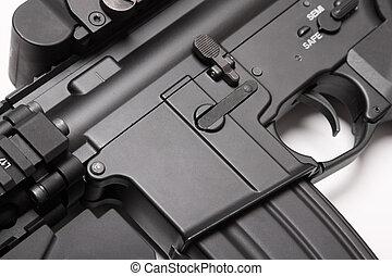 m4a1, 受信機, close-up., 私達, 突撃銃, 軍隊