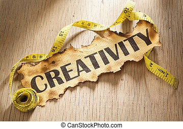 maß, für, kreativität, begriff