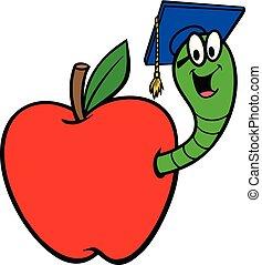 maçã, bookworm