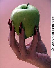 maçã, de, a, temptat