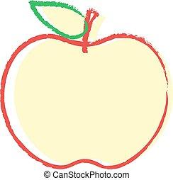 maçã, desenho