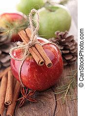 maçã, e, decoração