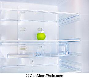 maçã, em, a, refrigerador