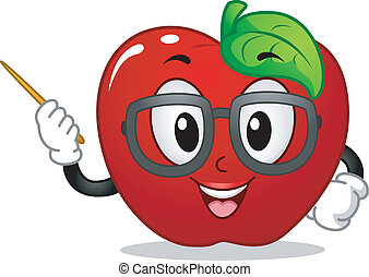 maçã, mascote