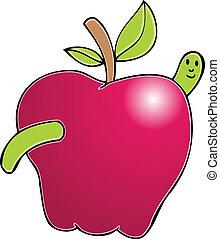 maçã, verme