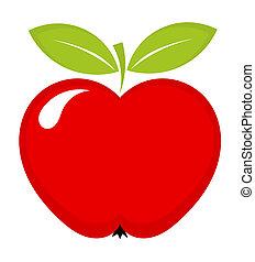 maçã, vermelho, ícone