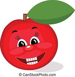 maçã, vermelho