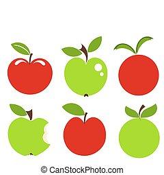 maçãs, ícones