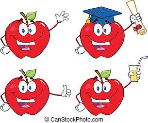maçãs, caráteres, jogo, cobrança, 9