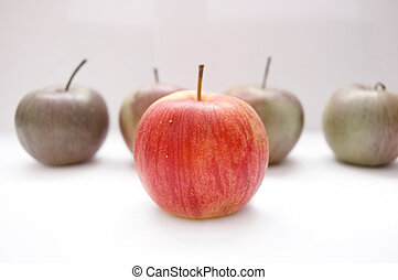 maçãs, conceitual, image.
