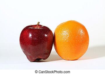 maçãs, laranjas