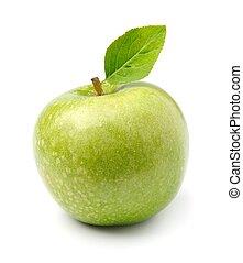 maçãs verdes, maduro