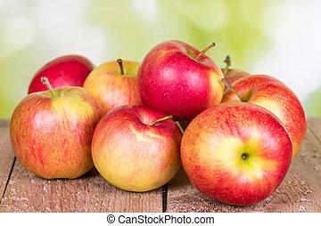 maçãs, vermelho