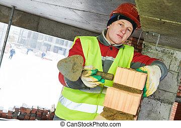 maçon, ouvrier construction