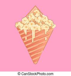 maíz, caramelo, ilustración