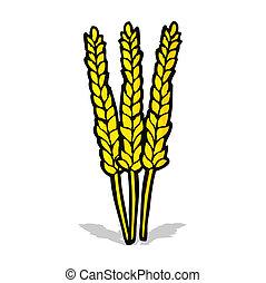 maíz, caricatura