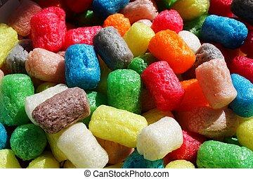 maíz, colorido, bocados