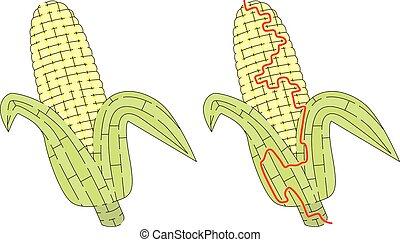 maíz, laberinto