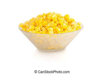 maïs, blanc, isolé