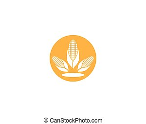 maïs, industrie, illustration, conception, logo, symbole agriculture