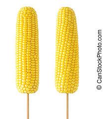 maïs, isolé, crosse