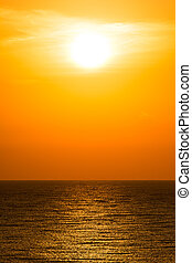 mañana, salida del sol, cielo