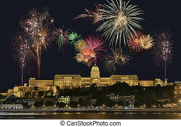 maďarsko, budapešť, raketa, -, vystavit