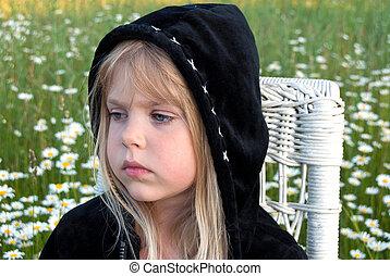 mała dziewczyna, hoodie