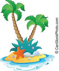 mała wyspa, wizerunek, 1